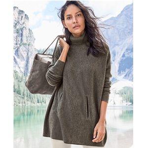 Garnet Hill Oversized Wool/Cashmere Sweater SZ XL